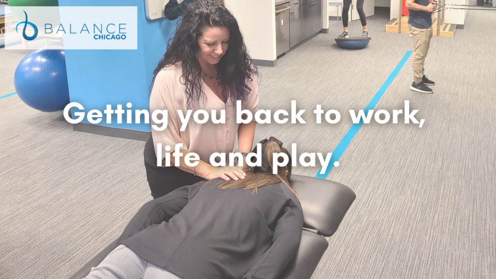 Dr. Michele Kehrer helping patient with physical therapy.